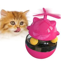 Cat Toys Tumbler Dispensing IQ Ball With Feather For Chasing Playing Eating Slow Feeder Puzzle Toy