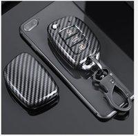 Glossy Carbon fiber ABS Key Case Key Cover For Hyundai Tucson Creta ix25 ix35 i20 i30 HB20 Elantra Verna Mistra 2015-2019