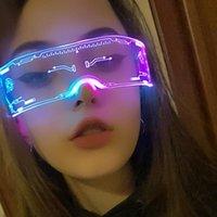 선글라스 LED 안경 El 와이어 네온 파티 빛나는 빛 의상 장식 DJ 할로윈 장식