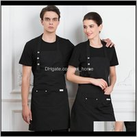 Aprons Textiles Home & Garden2 Pack Men Women Adjustable Bib Apron Cooking Chef Dress With Pocket Drop Delivery 2021 G0Cdd