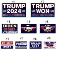 3 * 5 ft Trump Won Bandiera 2024 Bandiere elettorali Donald The Mogul Salva America 150 * 90cm Banner DHL spedizione T011