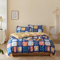 Bedding Sets Three-piece Set Of European And American Size Cotton Printed Quilt Cover Pillowcase
