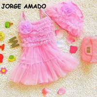 One-Pieces 2021 Korean Style Summer Baby Girls Swimwear Sling Sleeveless Candy Color Bikini Swimsuit Born Infant Clothes E1621
