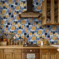 Vintage Pattern II Self-adhesive Marble Floor Tile Wall Sticker PVC Oil-proof Waterproof For Home Living Room Bedroom Study Bar Wallpapers