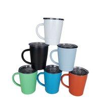 8.5oz Kids Sippy Cups Becher mit Griff Doppelwand isoliert Edelstahl-Kleinkind-Tasse Mini-Tumbler Verschüttungs-Proof-Deckel Easy 819 B3