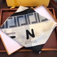 Designer Seta Jacquard Donne Sciarpe Alta Quatity Primavera ed Estate Doppia Doppia F Knit Sciarpa Lettere Classic Fascia Sciarpa Scialle Scialle Plaid Hijab 3 Colore