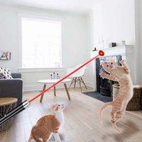 Gatos juguete láser puntero pluma 5MW rojo punto luz potente aviación aleación de aluminio 500 m Herramienta de supervivencia del dispositivo (baterías no incluidas)