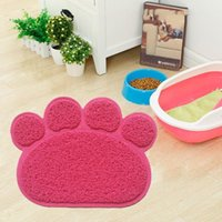 Kennels & Pens Drop Shape Pets Feet Mat Placemat PVC Radiating Dog Cats Sleeping Feeding Pads 40cmX30xmX7mm