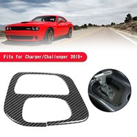 Car Stickers Carbon Fiber Gear Shift Box Panel Cover Trim For Charger Challenger 15+