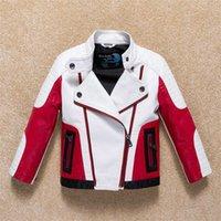 DollPlus Spring Faux de cuero chaquetas chaquetas impermeables PU abrigos para niños Outumn Outmod's Outwear Cool Teenage Kids Ropa