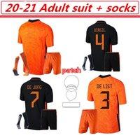 20 21 Holland Memphis de Jong Jersey Jersey Ligt Netherlands Strotman Van Dijk20-21 20-21 Terno adulto + meias