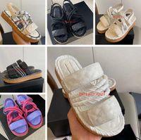 أحدث 2021 منصة الصنادل النسائية مصمم الأحذية، حذاء الأسطور واسعة الحلول المألوفة، الصيف في الهواء الطلق حبل السببية الكاحل صندل الصندل مع مربع 35-40