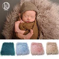 DJ Born Faux Fur Put Cesta de Cesta Stuffer Po Adereços Baby Fotografia Pography Backdrop Backdrop Cobertor Infantil Shoot 211023