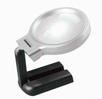 家具アクセサリー40ピース折りたたみ式デスクトップ3x拡大鏡LEDコンパクトデスクランプライトライティングのための多機能虫眼鏡