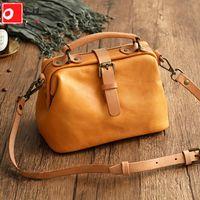Evening Bags OLN Women Designer Frame Shoulder Bag Luxury Vegetable Tanned Leather Female Handbag Retro Casual Crossbody For Lady 2021