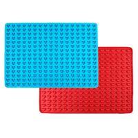 Легкости для домашних животных Pan Mini Mini в форме сердца силиконовые выпечки коврик печенье плесень шоколадные капли плесени 255-полость без палки KDJK2103