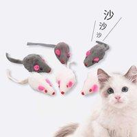 Реальная меховая мышь кошка игрушка цвет случайных 2-дюймовых кроликов