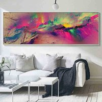 Large Paintings Wall Art Pictures Living Decor Unreal Clouds Abstract Oil Painting on Canvas For Home Room Decoration