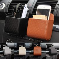 Storage Bags Money Key Holder Vehicle Bucket Car Box Phone Coin Organizer Leather Accessories Stowing Tidying