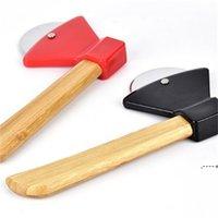 Cuchillos de pastel mediana redondo Tallo de bambú Pizza Cuchillo Pasteles para hornear Herramienta de cocina Resistencia al desgaste FWF5966