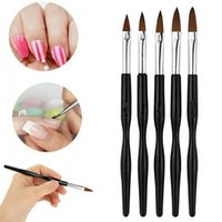 Kits d'art à ongles 5pcs Acrylique Gel UV Gel Sculpture Brosse Pen de paillettes Ensemble d'outils Pour Manucure Equipment Professionals