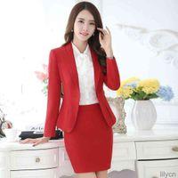 Women Two Piece Dress Skirt Blazer Set Office Lady Suits Uniform Female Business Work Outfit Jackets Autumn Winter