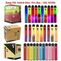 Bang XXL Switch Duo Pro Max Xxtra Cigarettes électroniques Jetables 2 sur 1 Vape Pen 2000 2500 Puffs Dispositif 800 1100mAh Batterie Prérurée Pod Kit E CIGS
