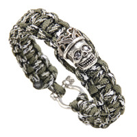 Chino New Mountaineering Creative Bracelet Camping Outdoor Copper Inlaid Zircon Hand Woven Umbrella Rope