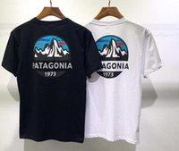 Diseñador de verano Paisaje de montaña T Shirt Hombres Mujeres Impresión de moda Mangas cortas de alta calidad Algodón Casual Tees Patagonia