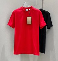 20SS Luxur Ricamo T Shirt Moda Donne Design Design T-shirt femminili T-shirt femminili di alta qualità Black and White100% Cottn Men