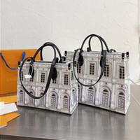 Auf den Taschen Designer Body Bags Cross Tote Go Business Fornasetti Bag Architettura Onthego MM Luxurys Einkaufstasche Fwejs