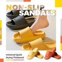 Bath Mats Universal Quick-Dry Thickened Non-slip Sandals Thick Sole House Slippers Bathroom Shoes Summer Beach Sandal Slipper Dropship