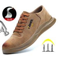 Yadibeiba Sécurité respirante Chaussures de travail pour hommes NTI-Skidding chaussures en cuir chaussures de protection chaussures de protection industrielle Bottes de sécurité industrielles