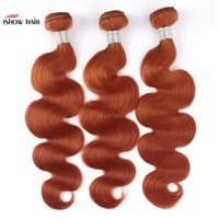 Ishow Hair Weaves Bundles Weft Orange Ginger #350 Malaysian Human Hair Bundles Brazilian Indian Peruvian Virgn Human Hair Extensions
