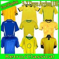Retro 2002 2004 1994 2006 1988, 1957 1957 Ronaldinho Retro Soccer Jerseys Romario Ronaldo Brasile Rivaldo Camisa de Futebol Camicia Coppa del Mondo