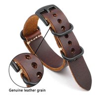 Bands Onthelevel Genuine Leather Nato Zulu Strap 18mm 20mm 22mm 24mm Replacement Watchband Watch Accessories Wristband #d