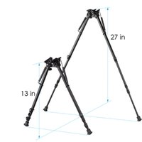 13-27 inch Tactical Harris swivel style Long Range Hinged Base Tilt High Shockproof Shooting Pivot Rotating Bipod