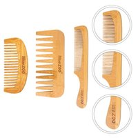 Hair Brushes 3 Pcs Bamboo Beard Combs Useful Hairstyling Barber Shop Home Coms