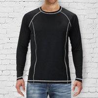 Men's T-Shirts Running Gym Men T Shirt Casual Autumn Winter Loose Cotton Round Collar Long Sleeve T-shirt Sports Fitness Quick Dry Sweatshir