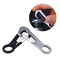 Cords, Slings And Webbing 2 Pcs/Set Outdoor D Type Buckle Bottle Opener Hang Quick Release Hook Stainless Steel Carabiner Keychain