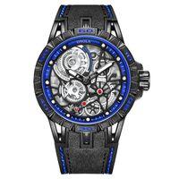 Wristwatches Waterproof Chronograph Sport Wristwatch Leather Strap Business Male Quartz Men Watches