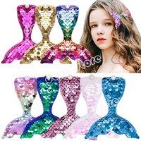 Sequined Mermaid Tail Hair Clips Children's Cartoon Duckbill Clip Pearl Hairpin Fashion Accessories