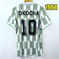 Top 1994 الرجعية Nijerya Soccer Jerseys 94 قمصان كرة القدم خمر 1996 1998 Okocha Jersey Yekini Finidi Classic Maillot De Foot