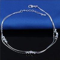 Neue 925 Sterling Splitter Knöchel Armband Für Frauen Fuß Schmuck Inlaid Zirkon Fußklets Armband auf einem Bein Persönlichkeit Geschenke