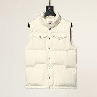21ss Tasarımcı Erkekler Kış Aşağı Ceket Freestyle Yelek Katı Su Geçirmez Kapitone Moda Giyim Yelek Nakış Baskı Mektubu Kadınlar Sıcak Kalın Parkas Coats M-3XL