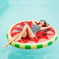 Inflatable Floats & Tubes 1.6m Watermelon Slice Pool Float Swimming Ring Beach Bed Party Fun Water Floating Island Buoy Toys Air Matress Cir