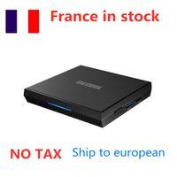 Francia in magazzino Mecool KM6 ATV TV Box Amlogic 2 GB + 16 GB Android 10.0 Lettore di rete S905x4 Quad Core 2.4G 5GHz Dual WiFi