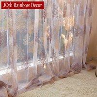 Японский стиль чистый тюль занавес для гостиной выгорания занавес для детской спальни окна кухонные занавесы жалюзи Драпыты 210712