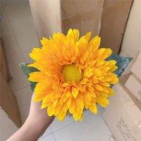 Wedding Flowers Melaleuca Sunflower Teddy Double Artificial Flower Silk Home Living Room Decoration Bonsai