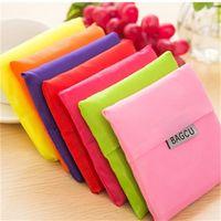 Bolsa de armazenamento eco amigável bolsa de compras utilizáveis bolsas de compras reutilizáveis Mercearia portátil nylon grande cor pura cor livre DHL 502 S2